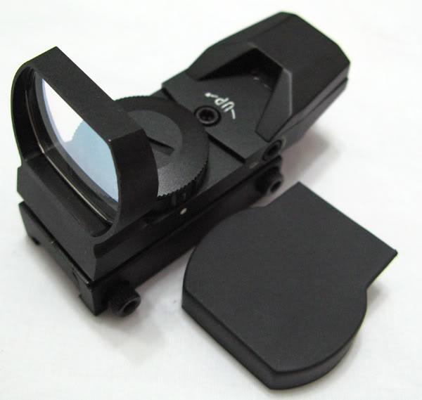 Mirino per mirino laser in metallo verde e rosso da 33 mm con mirino a 4 razze