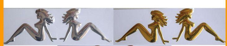 50шт / серия 3D ПВХ Русалка Забавные наклейки на бампер персонализированные прохладный автомобиль наклейки автомобиль наклейки фарфора