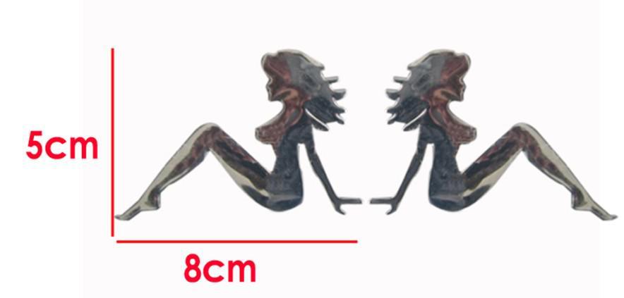 100 adet / grup Toptan 3D Mermaid Komik Tampon Çıkartmalar PVC Ucuz Araba Amblemler Rozeti Araç Çıkartmaları