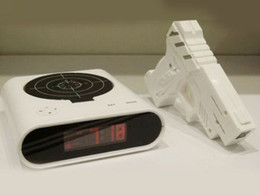 "Wholesale Gun Shot Alarm Clock - 2017 Dream Catcher Scrapbook Targeting Alarm Clock Home Decoration High Quality 2.3"" Lcd Laser Gun Target Shooting Desk Clockhot Sale"