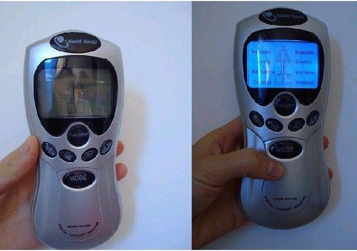 / Weihnachtsgeschenk Tens Akupunktur-Digital-Therapie-Maschine +4 Pads + 4-way Electrode-Draht