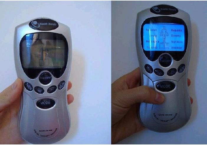 35st / julklapp Tens Acupuncture Digital Therapy Machine +4 Pads + 4-vägs elektrodtråd