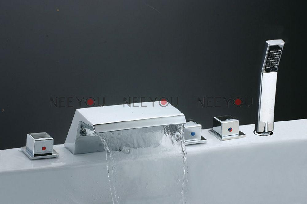 shower and sink faucet sets. See larger image 2018 Bathroom Waterfall Sink Faucet Set With Hand Shower Bath Tub