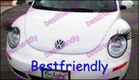 Wholesale Automotive Eyelashes - 500PCS=250Pairs Automotive Eyelashes 3D Car Eye Lashes Eyelash Sticker Eyelash Eye-lashes TTT
