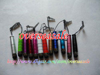 Wholesale Earphone 4g - Metal Aluminum Touch Stylus Pen anti dust plug for iphone 3G 3GS 4G 4 4S 4GS ipod IPAD 2 II 50PCS
