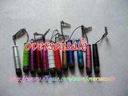 Wholesale Metal Jack Plug - Metal Aluminum Touch Stylus Pen anti dust plug for iphone 3G 3GS 4G 4 4S 4GS ipod IPAD 2 II 50PCS