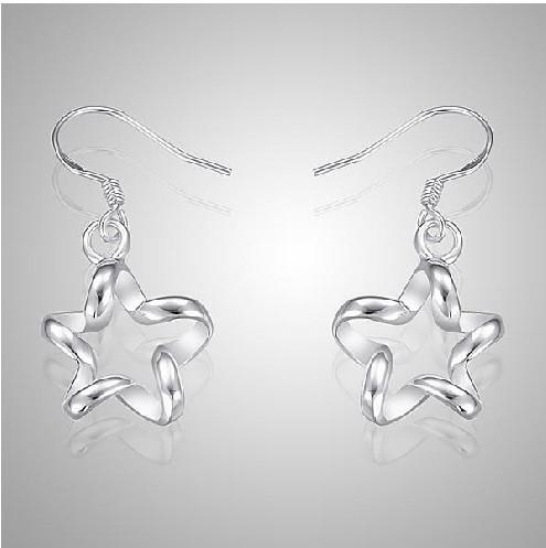 Pretty unique swirl star tag Fashion Jewelry Manufacturer a earrings 925 sterling silver jewelry factory price Fashion
