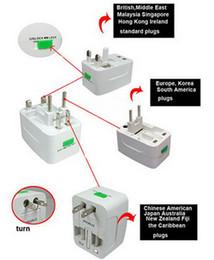 Wholesale Socket Plugs - Multi Travel Adaptor  Adapter plug 4 in 1 Universal Worldwide use Plugs & Sockets US  EU  UK  AU