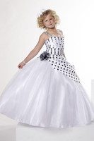 Christmas White Organza Straps Wedding Flower Girl Dress Gir...