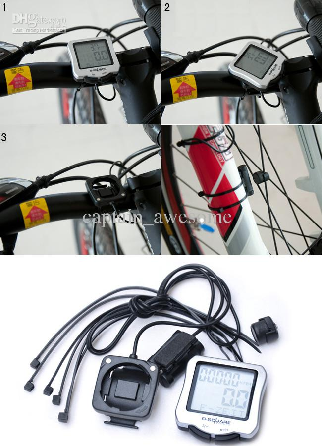 새로운 자전거 자전거 LCD 컴퓨터 주행 속도계 방수 사이클링