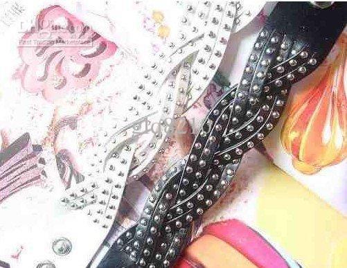 Xmas Geschenken Vintage Klinknagel Lederen Gevlochten Armbanden Verstelbare Mode Dames Cool Multicolor