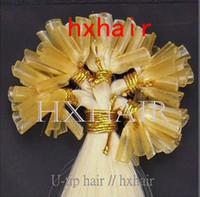 "Hot selling 100g 1pcs 20"" U-tip stick hair Hair Extensions   100% Remy Human Hair   Samples"