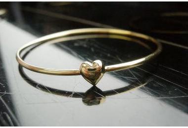 Hot New Fashions beautiful Corazones dulces simples hacen un brazalete de deseos Pulseras Wish Pulseras de oro del corazón