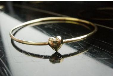 Hot New Fashions beautiful Simple sweet hearts make a wish bracelet Wish Bracelets Gold Heart Bracelets