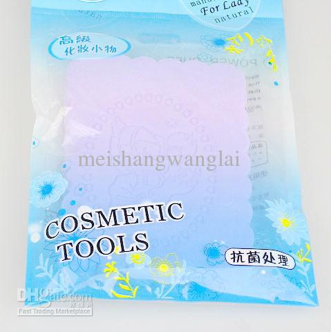 / 3 couleurs option nettoyage du visage nettoyage PVA Puff Maquillage Compresse Puff Sponge For Face 105 * 75