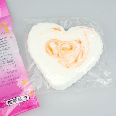 / en forme de coeur nettoyage du visage nettoyage PVA Puff Maquillage Compresse Puff Sponge Pour Visage 110 * 80