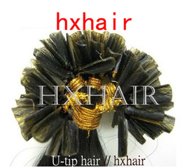 """Wholesale I Tip Curly Hair Extensions - 1000g 10pcs 20"""" Pre-bonded I-tip & U-tip Hair Extensions   100% Remy Human Hair"""