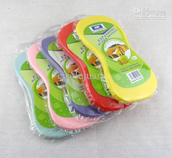 50 stks / partij De Multifunctionele Schone Spons voor Mix Kleur 22 * 11cm Wasschoonmaak Sponge Washanddoek