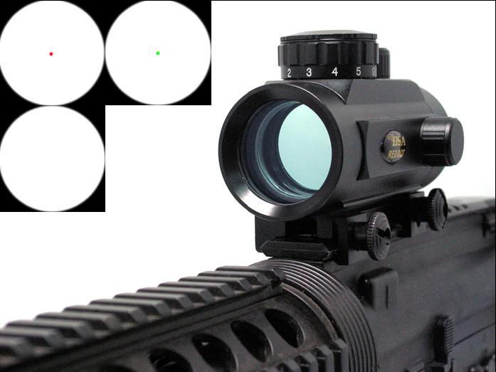 BSA 1x30 tactical Red / Green Dot pistola rifle Alcance vista 20mm Weaver mount RD30