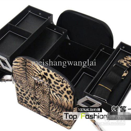 Optional Portable Cosmetic Case Make Up Case cosmetic Train Case 01A