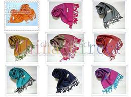 poncho de cachemira para mujer Rebajas 2017 womens Scarf Chal bufandas envuelven ponchos de cachemira Neckscarf NINGUNA MARCA DEL DISEÑADOR 12 pc / lot # 1741