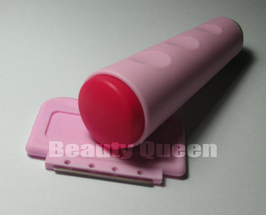 Nail Art doppelseitige Stempelstempel + Schaber Stanzwerkzeug für Druckbildplatte DIY