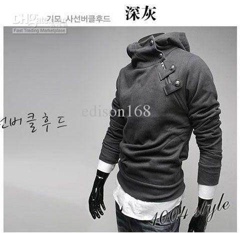 Nieuwe Mannen Slanke Hoodies Hoody Jasje Sweatshirts Overjas M-3XL 5 kleuren