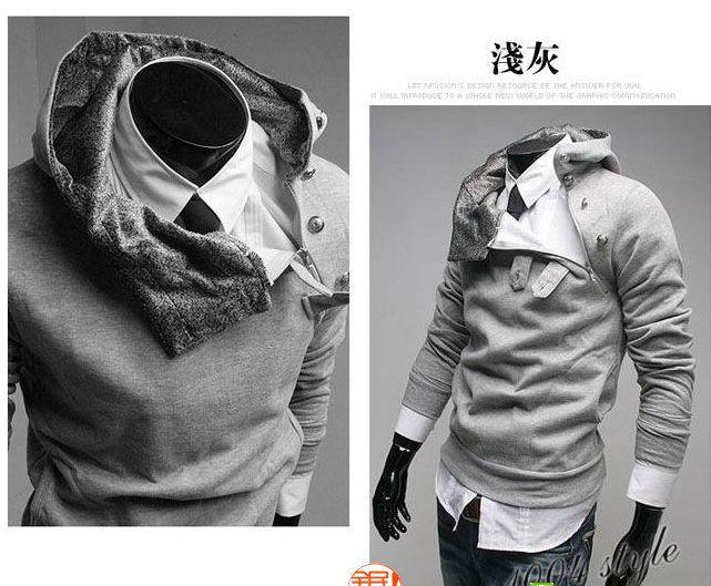 Nya män Slim Hoodies Hoody Coat Jacket Sweatshirts Overcoat M-3XL 5 färger