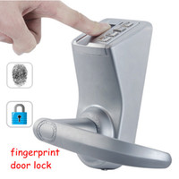 Wholesale Door Security Fingerprint - Fingerprint Security Door Lock for Home or Office Waterproof 2 Mechanical Keys Password LED Sensor