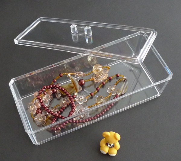 Clear Acrylic Cosmetic Organizer Makeup Case Holder Q TIP Storage Box/Cover  Gift