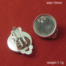 Wholesale Nickel Free Jewelry Earrings - Beadsnice brass clip-on earring components base diameter 10mm clip earring base for jewelry making lead-safe nickel-free ID9707
