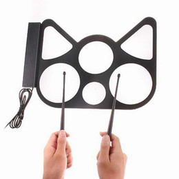 Wholesale Drums Usb - Best gift for kids USB Drum Digital Kit Cool Gadget ROLL UP portable DRUM KIT for PC Desktop
