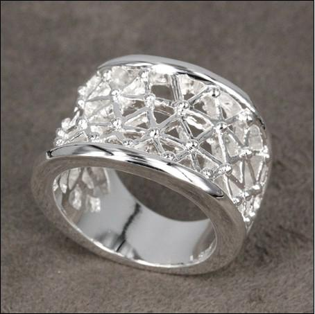 Hot new 925 silver jewelry wholesale fashion rings hollow free shipping 10piece/lot