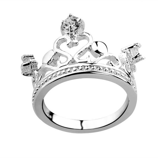 Best Selling 925 Silver Diamond Crown Ring Jewelry Christmas Gifts
