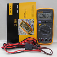 Wholesale Only F - FLUKE 17B F17B Auto Range Digital Multimeter Meter AC DC Diode R F Temp Cap Free Shipping