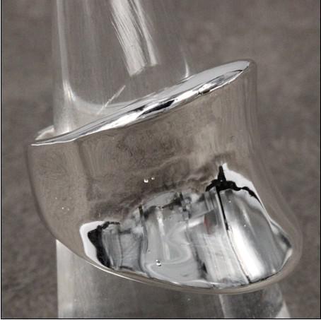 Gorący Nowy 925 Silver Thumb Pierścień Płyta Unisex Moda Biżuteria Darmowa Wysyłka 10piece / Lot