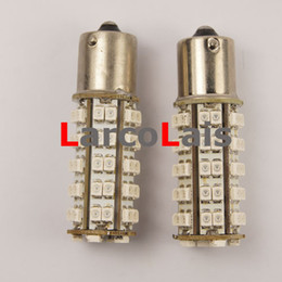 2pcs Amber 68 SMD LED 1156 BA15S P21W 1210 Car Turn Brake Reverse Tail Signal Indicator