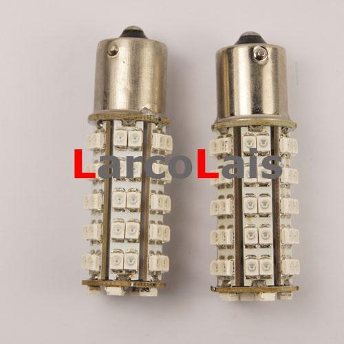 best selling 2pcs Amber 68 SMD LED 1156 BA15S P21W 1210 Car Turn Brake Reverse Tail Signal Indicator
