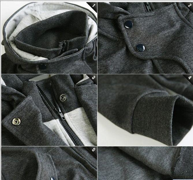 Nowa moda męska casual kapturzowa kurtka kardiganowa płaszcz człowiek odzież wierzchnia 212 czarny ciemny szary jasnopomodowy
