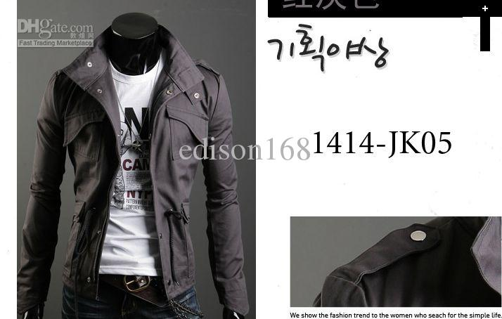 New Fashion Men's Luxury Style Slim Casual Cotton Coat Giacca Capispalla taglia M-4XL i 255