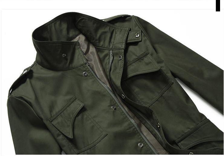 Nowa moda męska luksusowy styl Slim Casual Bawełniana Kurtka Kurtka Kurtka Odzieżykowa Rozmiar M-4XL 3 Kolory 255