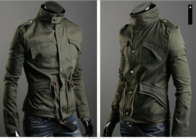 新しいファッションメンズの高級スタイルスリムカジュアルコットンコートジャケットの上着サイズM-4XL 3色255