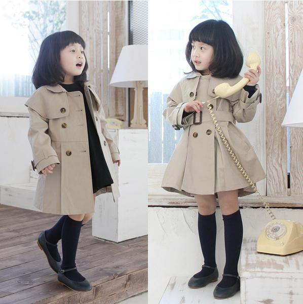 Children Winter Clothes Baby Girls Double Breasted Overcoat ...