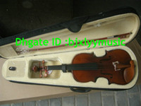 Wholesale Violins Wholesalers - Flame top Handmade 4 4 common Violin with case Free Shipping