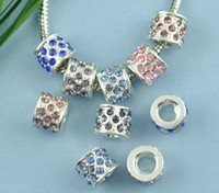 Wholesale Mixed Rhinestone Spacer Beads Fits Charm Bracelet