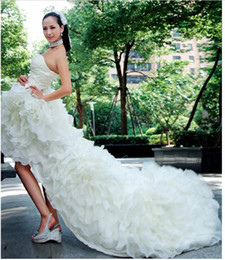 Wholesale Beautiful Bead Embroidery - Free Shipping 2012 BEAUTIFUL Sexy Short Wedding Dresses Bridal Gown Strapless Organza Wedding Dress