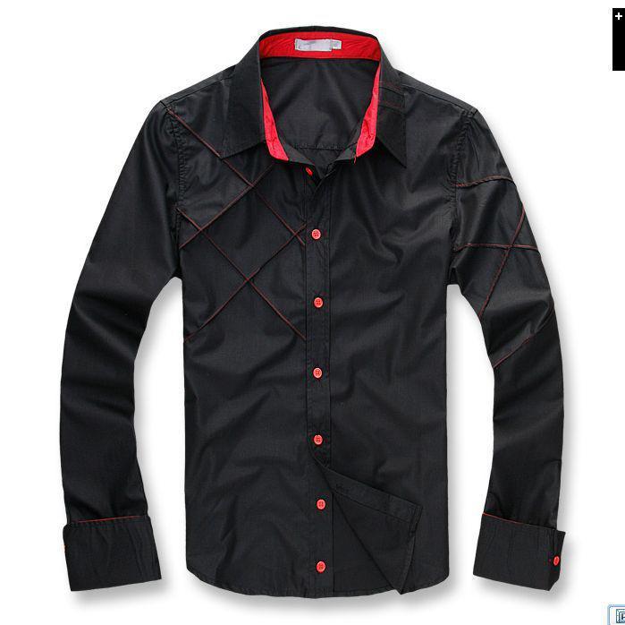 NOUVEAU HOMMES CASIEN MINIM SLIM FIT SHOLYSY ROBURE CHEMISES F56 Couleur Noir Blanc Taille M-2XL