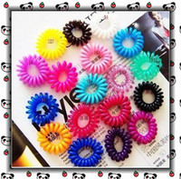 Wholesale Accesories Decorations - HairBand Hair Jewelry Fashion Accesories Decorations Charm Girls Sweet Candy Color 100Pcs SJ-TS004