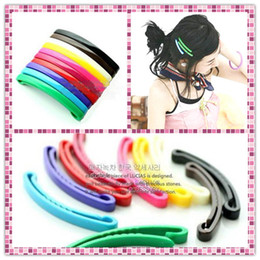Wholesale Girls Hair Accesories - Hairpin Hair Jewelry Fashion Accesories Decorations Charm Girl Office Ladies Rainbow 100Pcs SJ-TS009