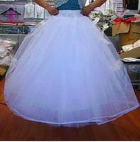 Wholesale Wholesale Bridal Petticoats - NEW White Wedding Dresses Bridal Gown Bridal Crinoline Petticoats Bridal Accessories (10pcs lot)